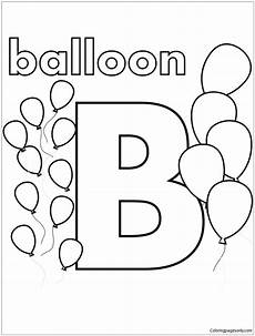color the letter b worksheets 24028 b is for balloon coloring page alphabet coloring pages abc coloring pages letter b coloring