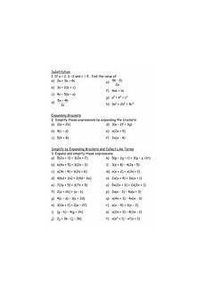 worksheets for ks3 18569 maths ks3 worksheet simplifying brackets teaching resources