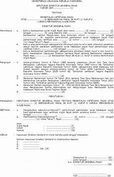 contoh surat mengembalikan faktur pajak
