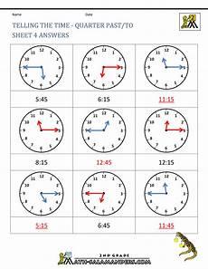 worksheets on time grade 4 3377 clock worksheets quarter past and quarter to