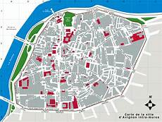 plan avignon map of historical avignon with it s rarts frances provence