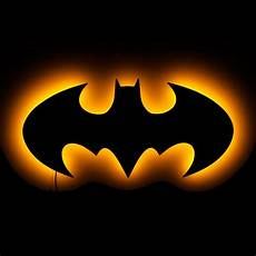 lighted batman logo wall art lighted wall art and symbolic lights 20 quot w 9 5 quot h