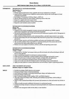 senior linux systems engineer resume sles velvet
