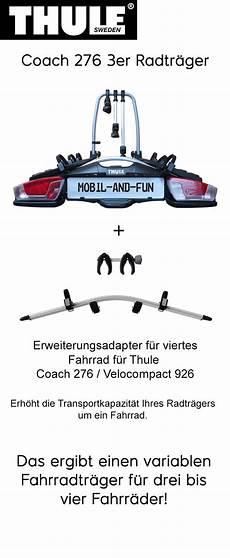 Thule Coach 276 3 4er Radtr 228 Ger Inklusive