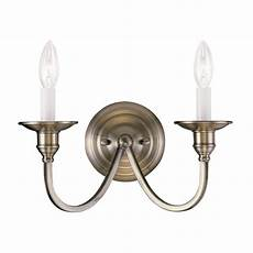 livex lighting cranford 13 in w 2 light brass candle wall sconce at lowes com