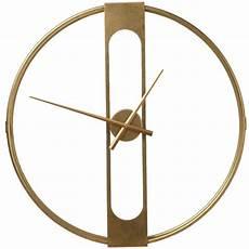 Grande Horloge Murale En Acier Dor 233 Effet R 233 Tro Pendule