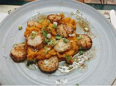 brown butter sea scallops with ginger sweet potatoes ww_image