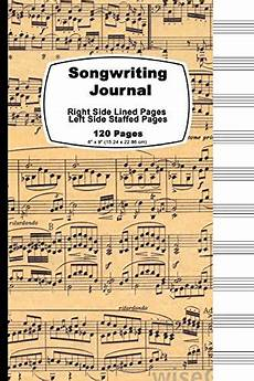 songwriting journal vintage sheet cover