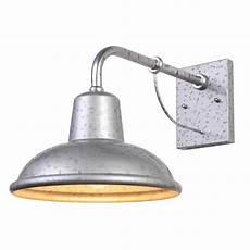y decor 1 light galvanized finish outdoor wall sconce light el24301 1gv the home depot