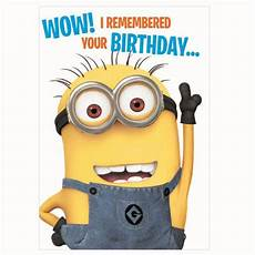 Malvorlagen Minions Happy Birthday Remembered Your Birthday Minions Card De014 Character