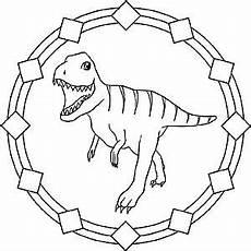 Malvorlagen Mandala Dinosaurier Mandala Dinosaur Tyrannosaurus Rex Avec Images