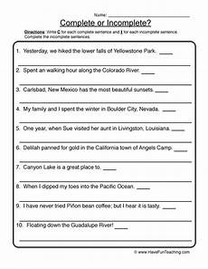 writing complete sentences worksheets 4th grade 22141 rewriting incomplete sentences worksheet teaching