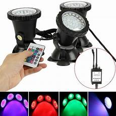 submersible 36 led rgb pond spot lights for underwater