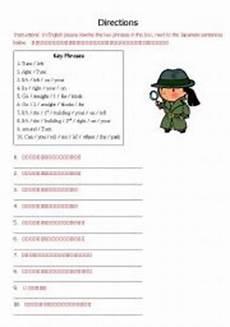 japanese words worksheet 19561 worksheets directions phrases japanese