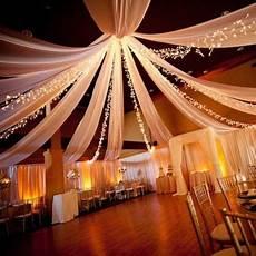 decoration salle de mariage plafond tenture blanche pour mariage 12 m x 80 cm en 2019