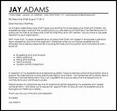 cover letter exles chef professional chef cover letter sle writing guide