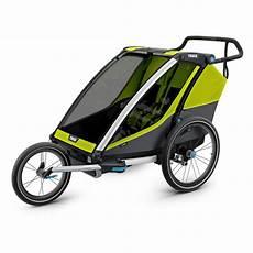 thule fahrradanhänger zubehör thule chariot fahrradanh 228 nger cab 2 2019 chartreuse