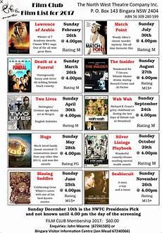 filme 2017 liste club s early start to 2017 program bingara