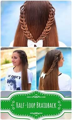 half loop braidback tutorial such a cute braid idea for
