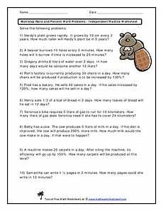 percent word problems worksheets common 10986 multistep ratio and percent word problems independent practice worksheet 6th 8th grade