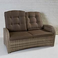 2 sitzer sofa ebay 2 sitzer living sofa turin natur geflecht polyrattan
