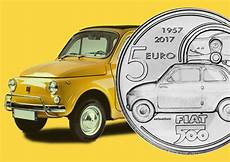 2017 italian 5 coin dedicated to fiat 500 car