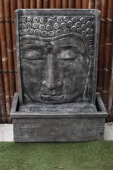 grande fontaine bouddha exterieur fontaine mur d eau 111 cm gris