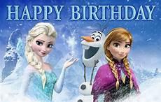 Malvorlagen Frozen Happy Birthday Disney Frozen Birthday Banner Elsa Olaf