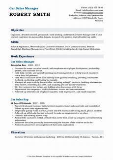 car sales representative resume sles qwikresume