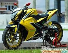 Modifikasi Pulsar by Modifikasi Kawasaki Bajaj Pulsar 200ns Warna Kuning Gahar
