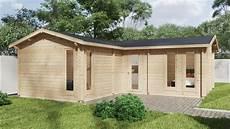 eck blockhaus mit zwei schlafzimmern 2 40 m2