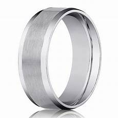 designer 14k white gold men s wedding ring beveled edge 4mm