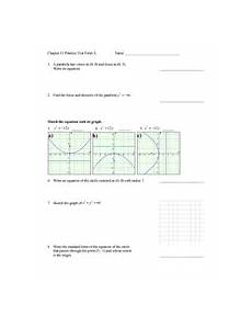 graphs and equations of conic sections practice test worksheet for 10th 12th grade lesson planet