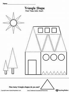 find trace color and count the shapes triangle