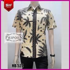kemeja batik motif padi ikat hb 524 pripoen batik pekalongan baju batik pekalongan
