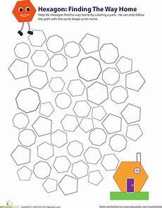 categorizing polygons worksheet 7963 identifying hexagons geometry worksheets kindergarten math math activities