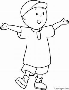 caillou coloring pages coloringall