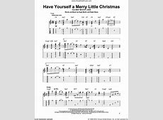 have yourself a merry christmas sheet music