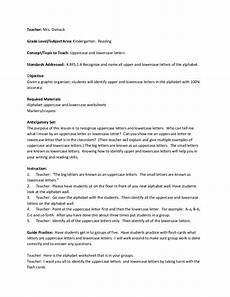 lesson plan for teaching alphabet letters lesson plan