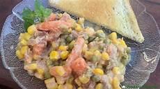 Thunfischsalat Mit Mais - thunfischsalat mit erbsen m 246 hren und mais gunnars kochecke
