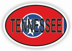 tennessee state oval with flag sticker usa united states