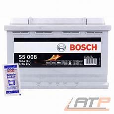 bosch s5 008 autobatterie 77ah bosch auto batterie 12v 77ah 780a ersetzt 70 ah 71 ah 72
