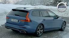 2019 Volvo V60 R Design Bursting Blue Exterior