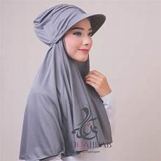 Turban Topi Instan Grey Baju Muslim Gamis Modern