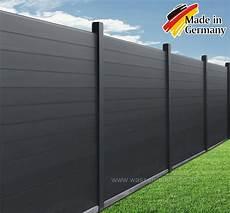 Aluminium Zaunelement Sichtschutz 2 00 X 1 80 M Dach Zaun
