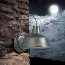 shop portfolio ellicott 13 12 in h galvanized dark sky outdoor wall light at lowes com