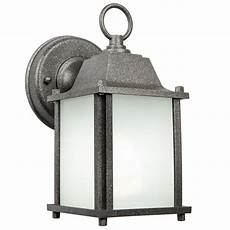 newport crest turner 1 light satin nickel outdoor wall