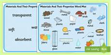 ela worksheets 15480 materials and their properties word mats materials properties