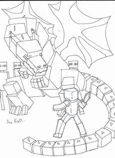 a drawling of the ender minecraft coloring pages