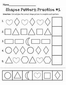 shapes pattern worksheets kindergarten 1167 shapes pattern practice page pattern worksheet math patterns shape patterns